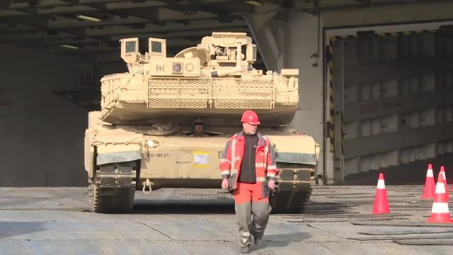 Amerykańskie czołgi dopłynęły do Niemiec. Ostatnia faza przygotowań do manewrów NATO