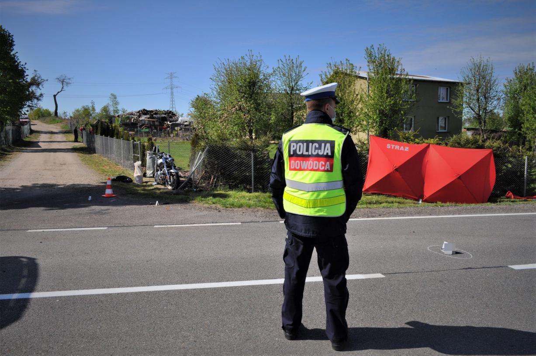 Śmiertelny wypadek w powiecie bytowskim. Nie żyje motocyklista
