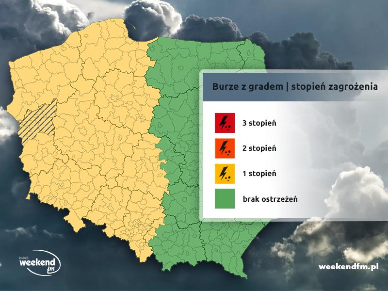 Uwaga na burze z gradem. IMGW wydał ostrzeżenie pierwszego stopnia dla naszego regionu