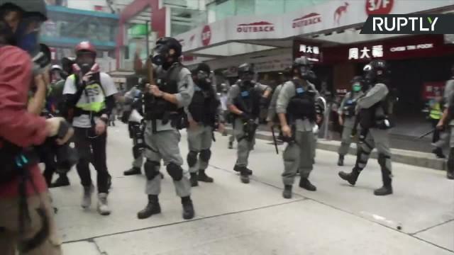 Protesty w Hongkongu przeciwko narzuceniu przez Pekin przepisów o bezpieczeństwie narodowym i ograniczaniu autonomii