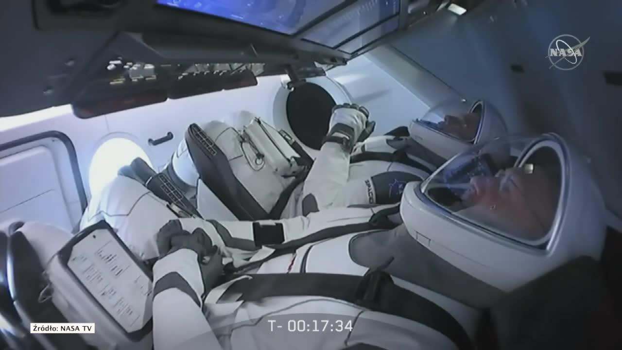 Start rakiety Falcon 9 z astronautami NASA przełożony. Powodem zła pogoda