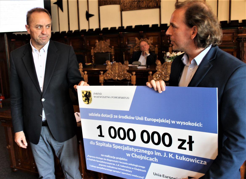 Milion złotych od Marszałka Województwa Pomorskiego na sprzęt dla chojnickiego szpitala