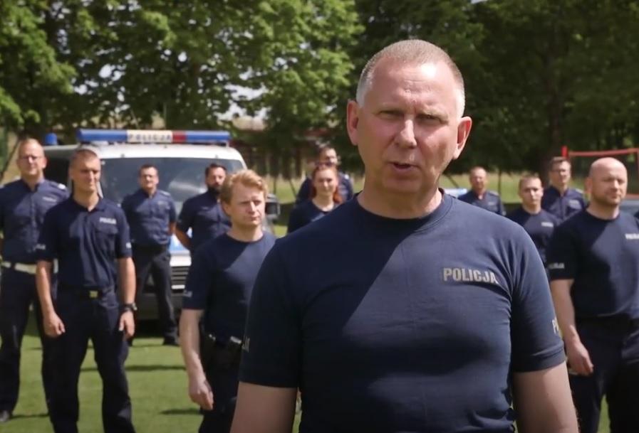 Funkcjonariusze z KPP w Kościerzynie włączyli się w ogólnopolską akcję GaszynChallenge WIDEO