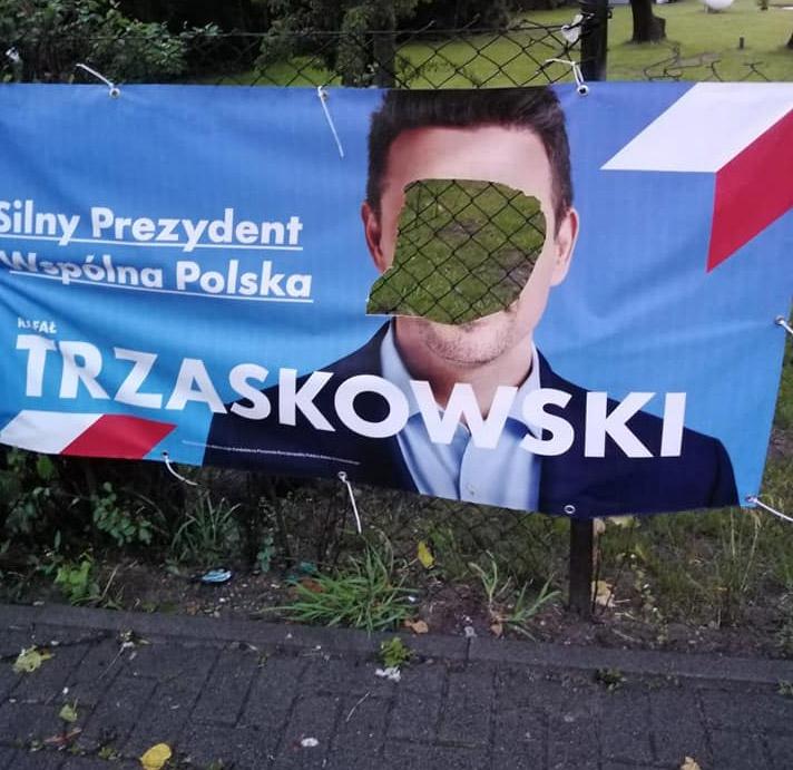 W Więcborku zniszczono banery wyborcze dwóch kandydatów na prezydenta