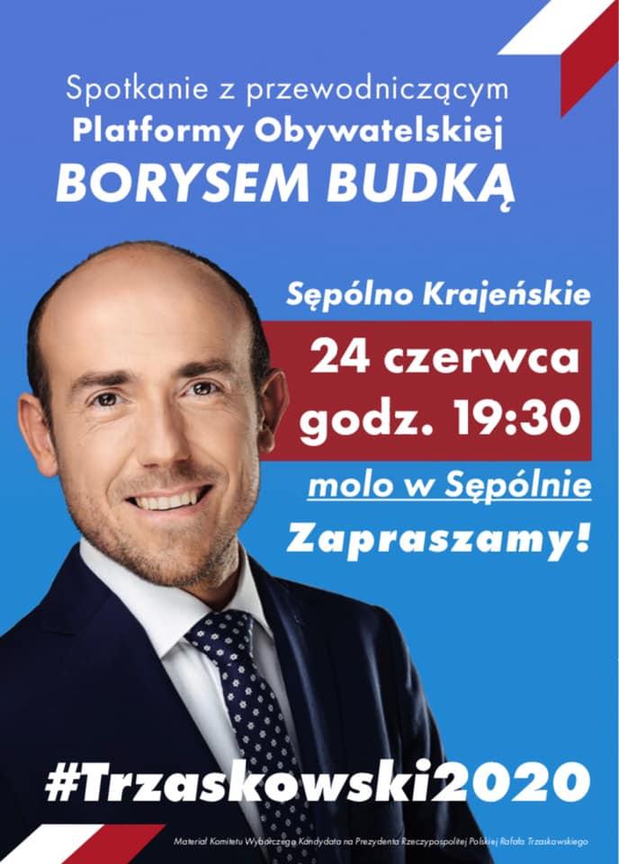 Przewodniczący Platformy Obywatelskiej Borys Budka przyjedzie do Sępólna Krajeńskiego
