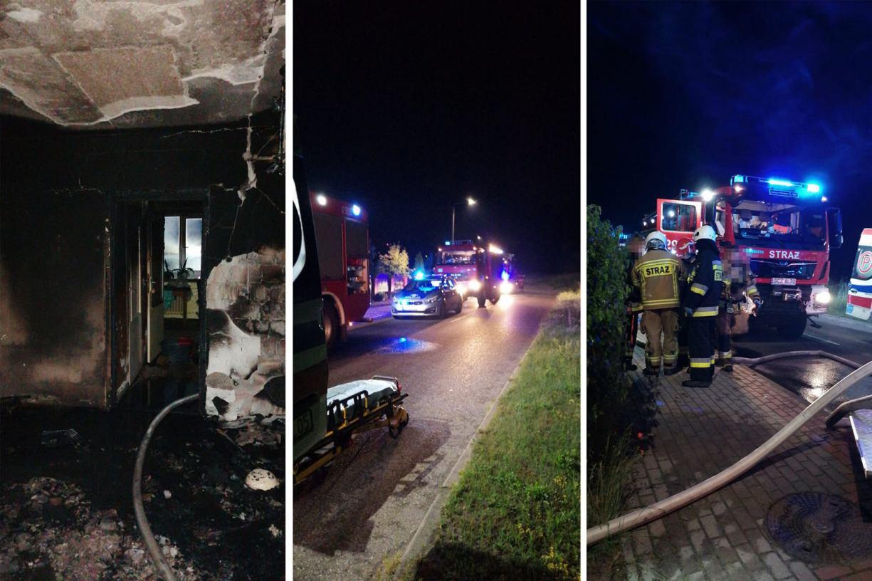 Jedna osoba poszkodowana w pożarze mieszkania w Czarnem