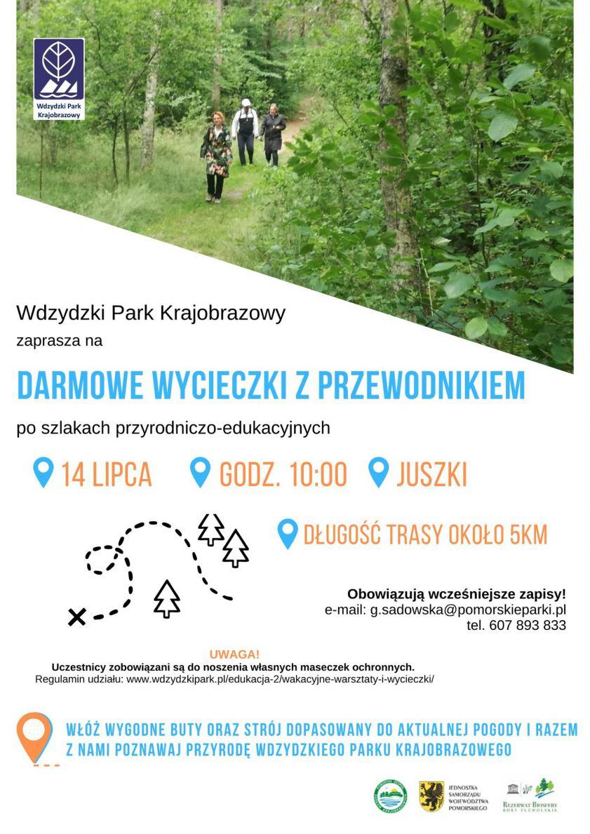 Wdzydzki Park Krajobrazowy zaprasza na spacery z przewodnikiem