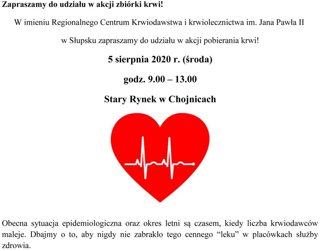 Zapraszamy do udziału w akcji zbiórki krwi!