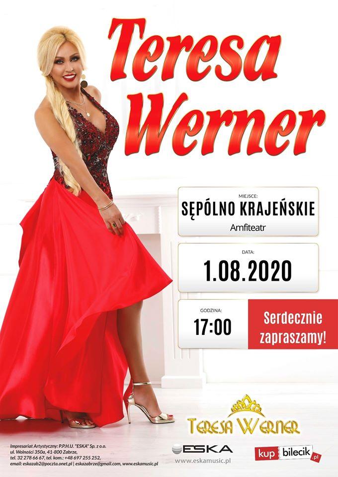 Koncert Teresy Werner na molo w Sępólnie Krajeńskim