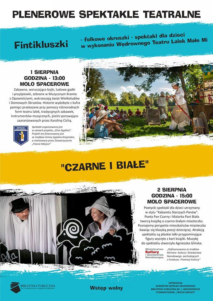 Dwa spektakle teatralne dla dzieci na molo w Sępólnie Krajeńskim