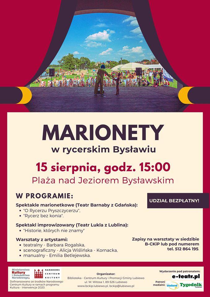 Gmina Lubiewo zaprasza na wydarzenie pod tytułem Marionety w rycerskim Bysławiu
