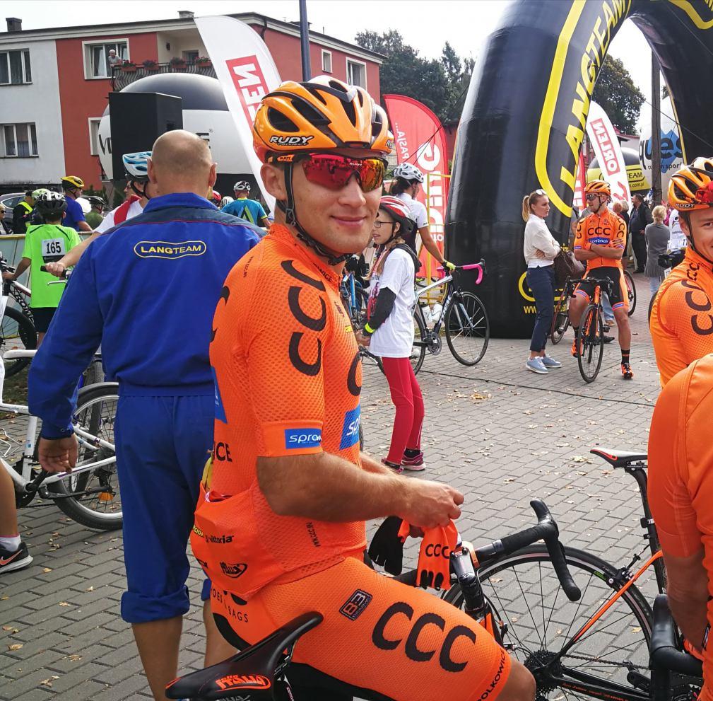 Wychowanek bytowskiej Baszty Kamil Małecki z CCC Team wciąż trzeci w Tour de Pologne