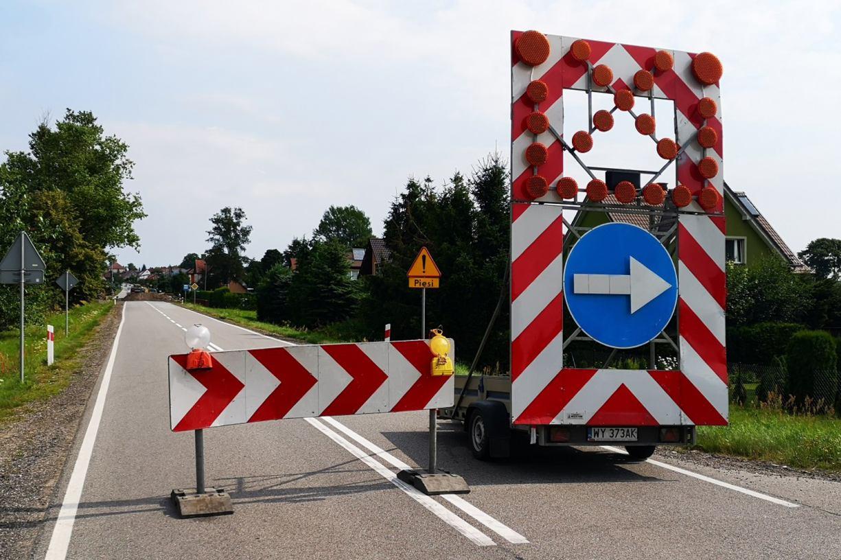 Uwaga kierowcy! Zmiana organizacji ruchu na drodze krajowej nr 20 w miejscowości Kramarzyny