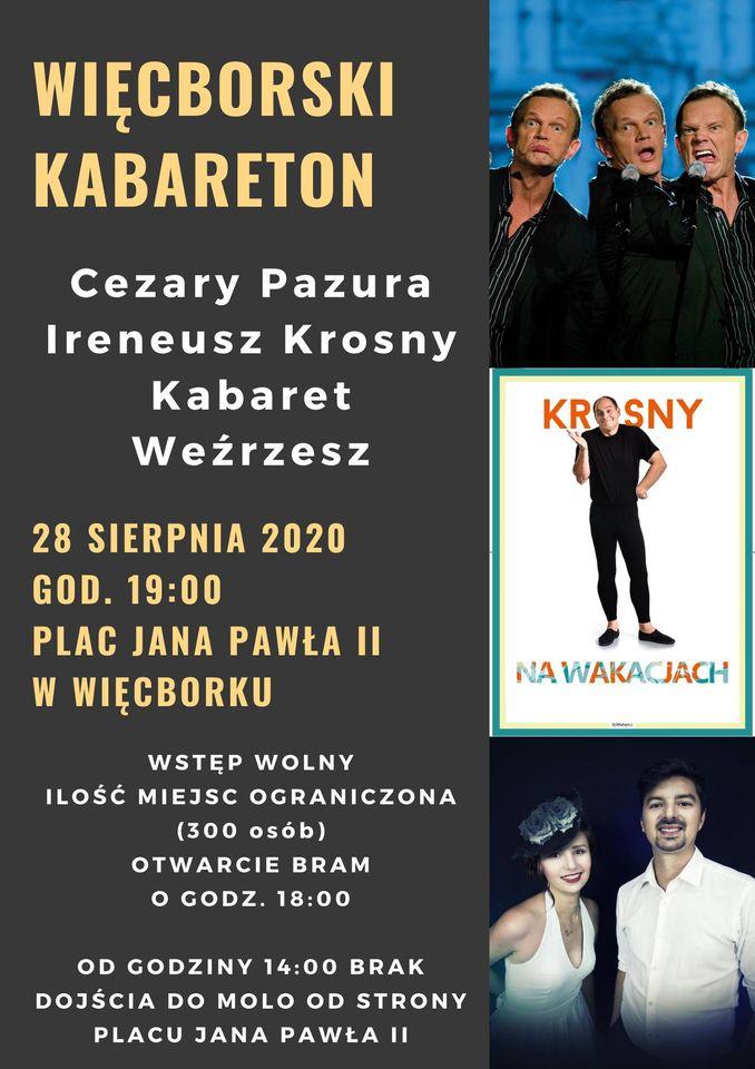 Cezary Pazura i Ireneusz Krosny wystąpią dziś 28.08 na zakończenie Muzycznego Lata w Więcborku