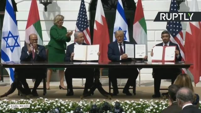 Historyczne porozumienia podpisane. Izrael normalizuje stosunki z Bahrajnem i Zjednoczonymi Emiratami Arabskimi