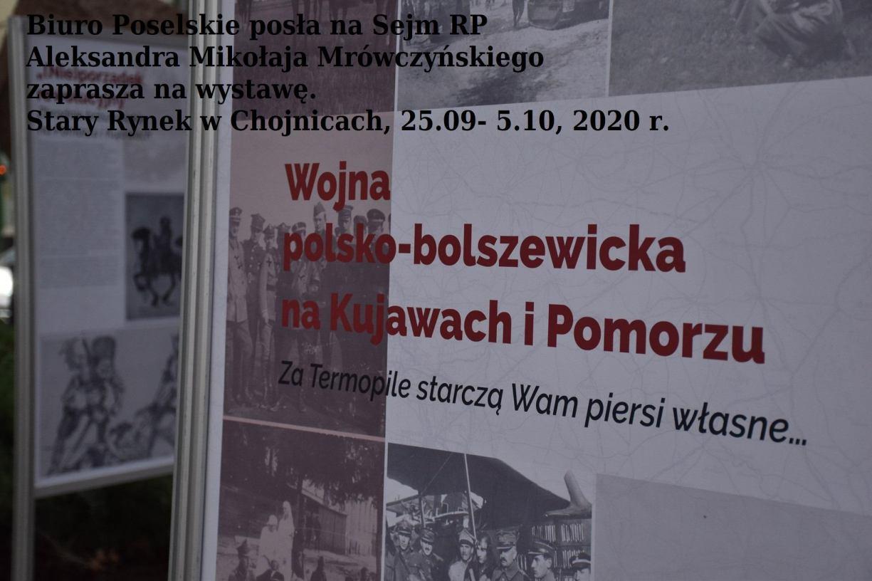 Od piątku na chojnickim rynku można oglądać wystawę bydgoskiego IPN poświęconą wojnie polsko-bolszewickiej