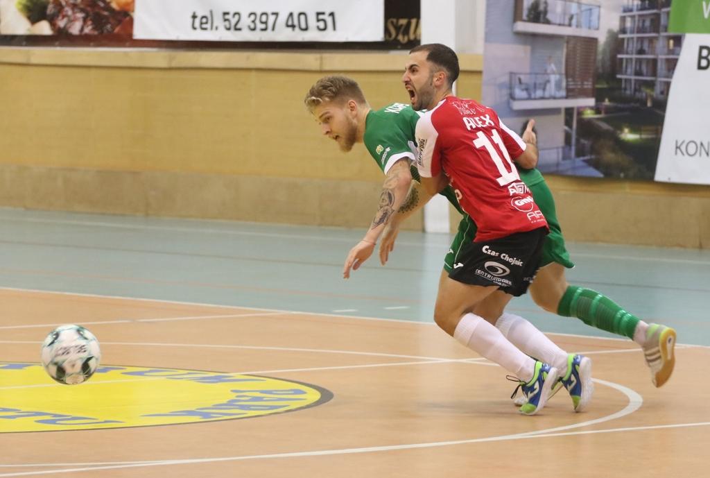 Przegrali 03, ale zasłużyli na pochwały. Futsaliści Red Devils Chojnice postawili się Rekordowi Bielsko-Biała FOTO