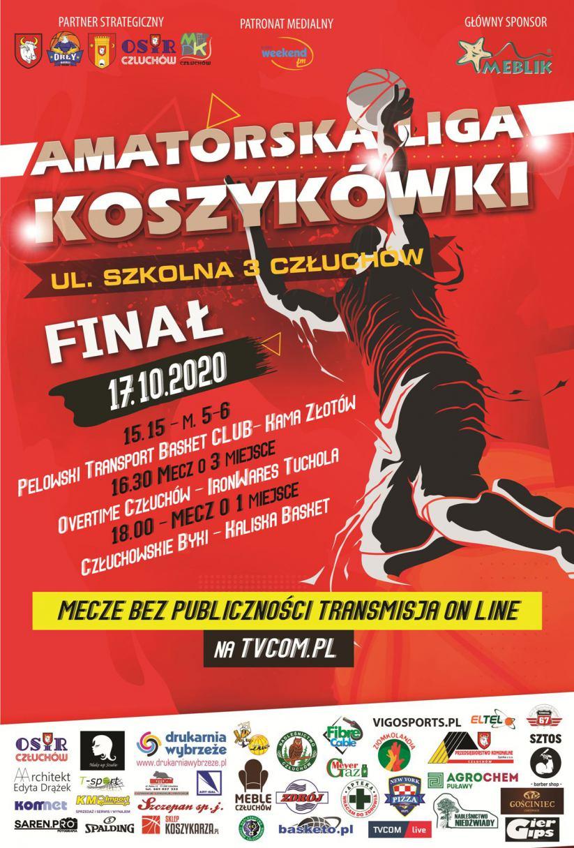 Człuchowska Amatorska Liga Koszykówki dokończy dziś 17.10 sezon