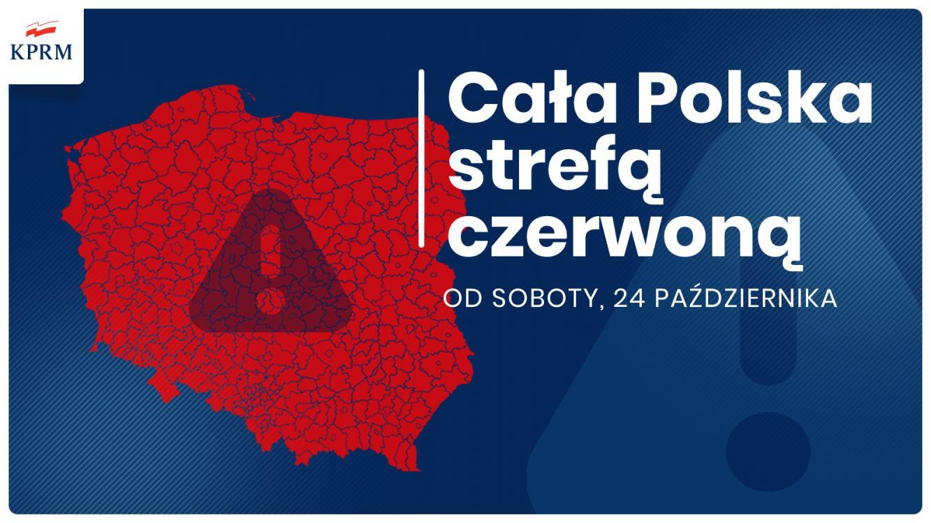 Od soboty cała Polska czerwoną strefą COVID-19. Sprawdź nowe obostrzenia