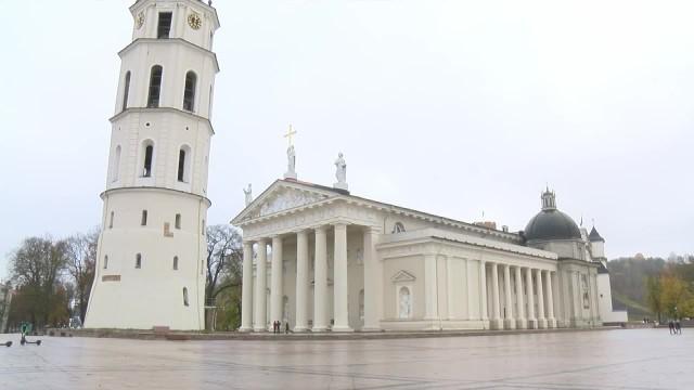 Ogólnonarodowa kwarantanna na Litwie. Opustoszałe ulice w Wilnie