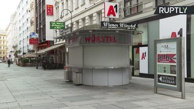 Opustoszałe ulice Wiednia. W Austrii rozpoczął się całkowity lockdown