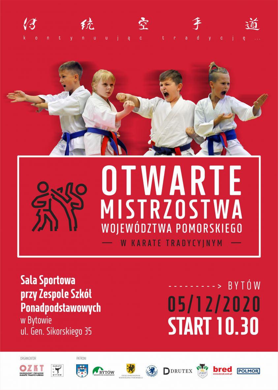 Ponad 150 karateków w karate tradycyjnym powalczy dziś 5.12 o tytuły otwartych mistrzostw Pomorza w Bytowie