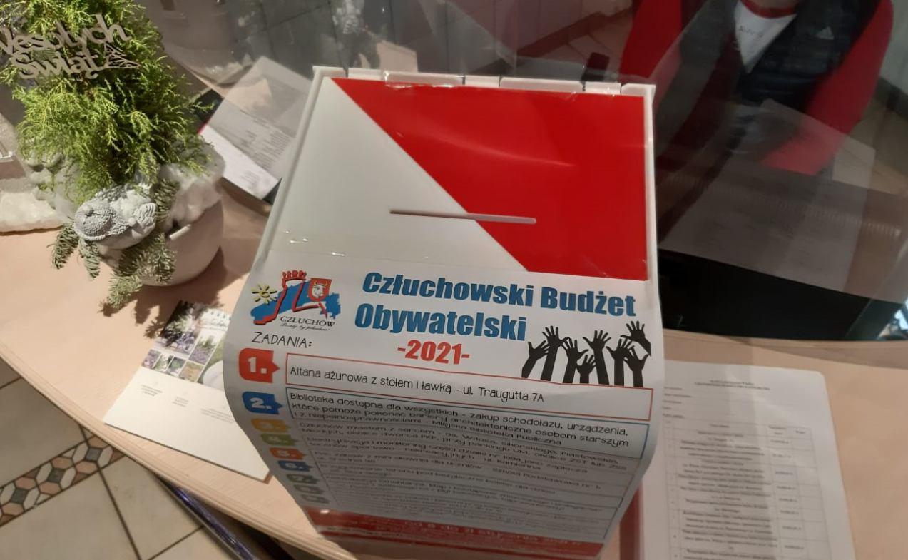 Jeszcze tylko do czwartku 21 stycznia można głosować nad budżetem obywatelskim miasta Człuchów na ten rok