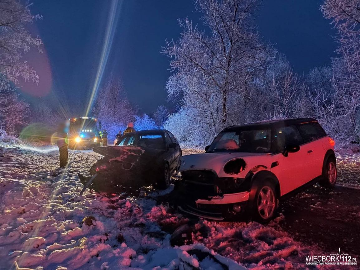 Jedna osoba poszkodowana w porannym wypadku na drodze wojewódzkiej 241 w okolicach Więcborka