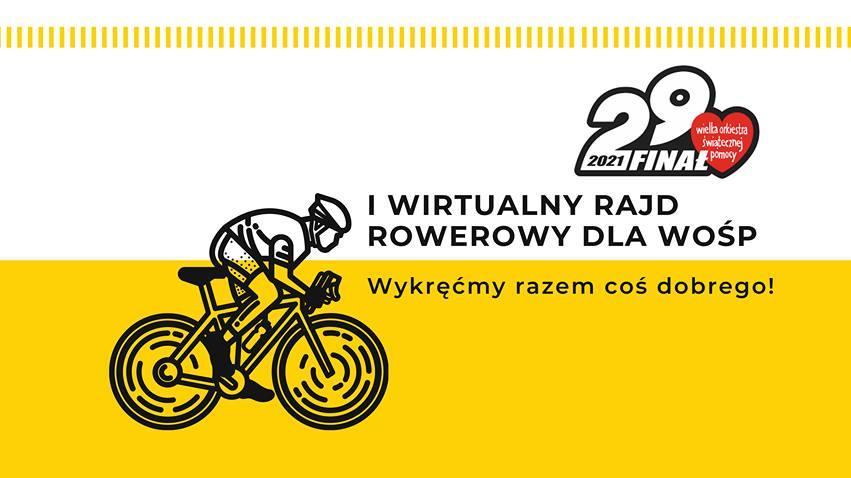 Chojnickie stowarzyszenie Cyklista włącza się w  Wielką Orkiestrę Świątecznej Pomocy i organizuje wirtualny rajd rowerowy
