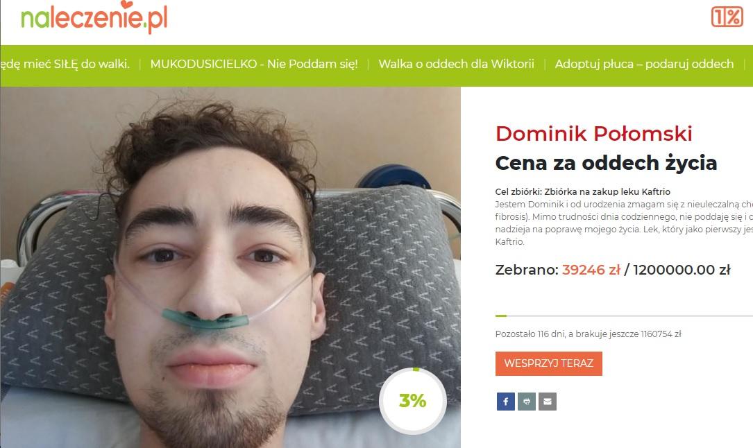 Mieszkaniec Charzyków walczy z mukowiscydozą. Pojawiła się szansa na kurację nowym lekiem. Sprawdź, jak możesz pomóc