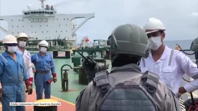 Dwa tankowce zatrzymane u wybrzeży Indonezji. Podejrzane o nielegalny transport ropy