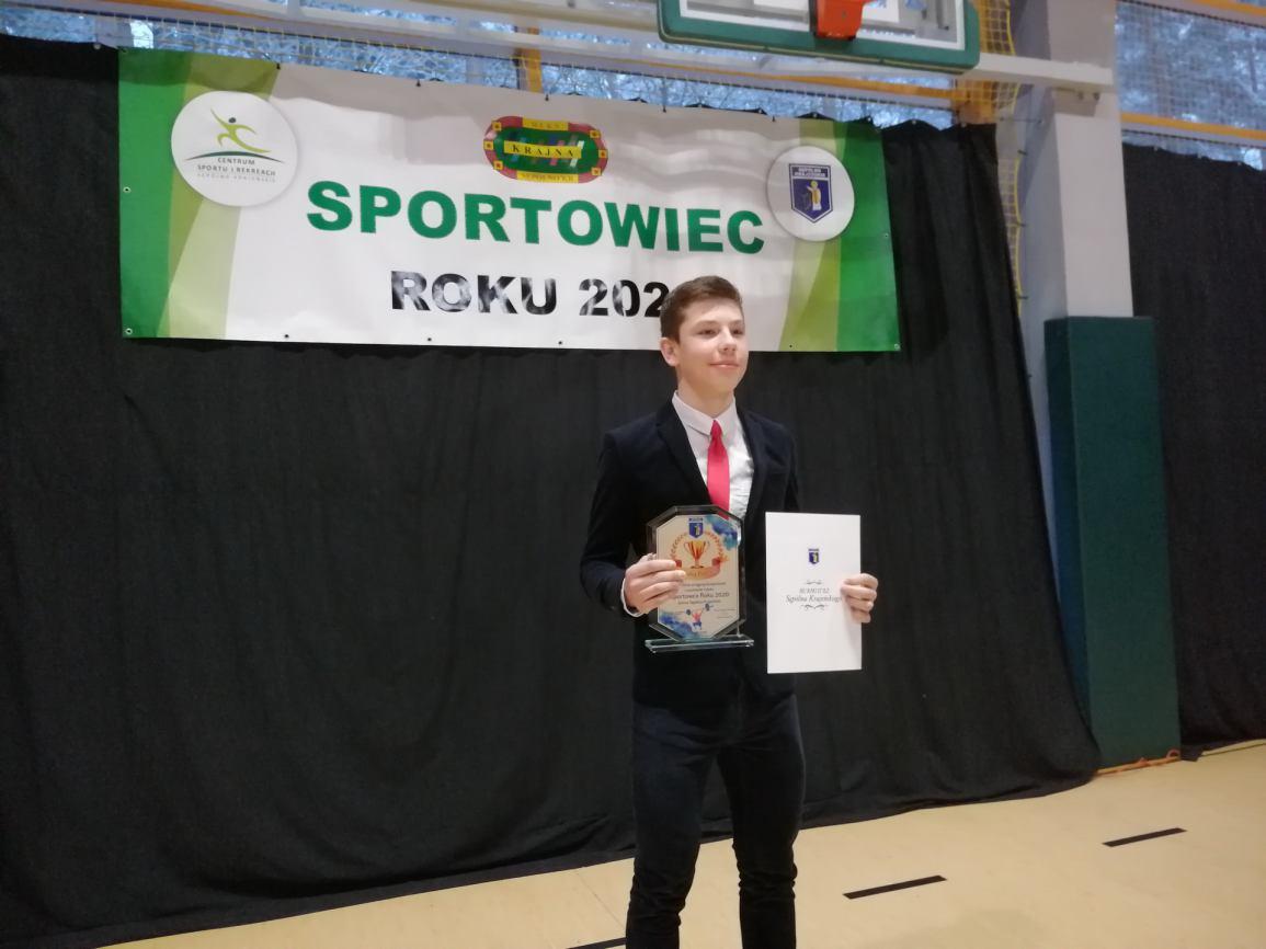 Mikołaj Paterek odebrał tytuł Sportowca roku w gminie Sępólno Krajeńskie FOTO