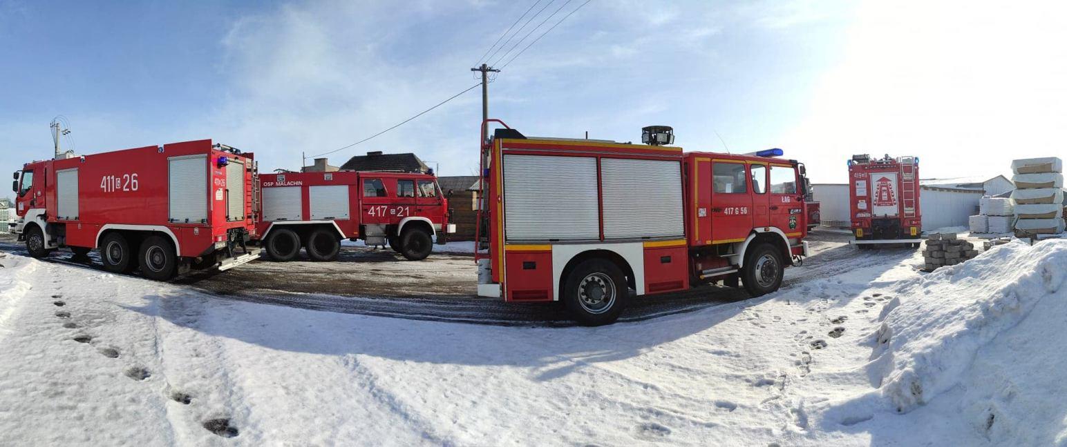 Pożar stolarni w Złotowie w gminie Czersk
