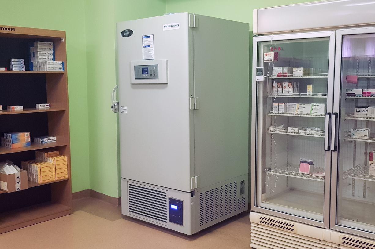 Szpital Specjalistyczny w Kościerzynie kupił specjalną zamrażarkę do przechowywania szczepionek