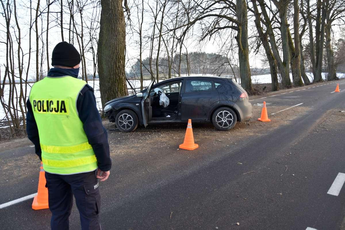 Jedna osoba została ranna we wczorajszym wypadku na drodze Dzimiany-Kalisz