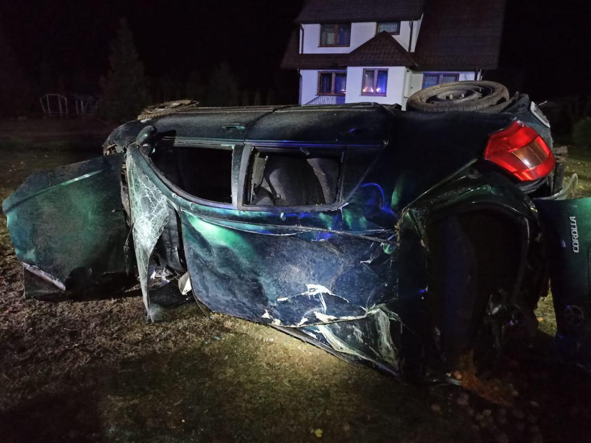 Śmiertelny wypadek w Grabowcu w gminie Czarne. Nie żyje 34-letni mieszkaniec Szczecinka FOTO