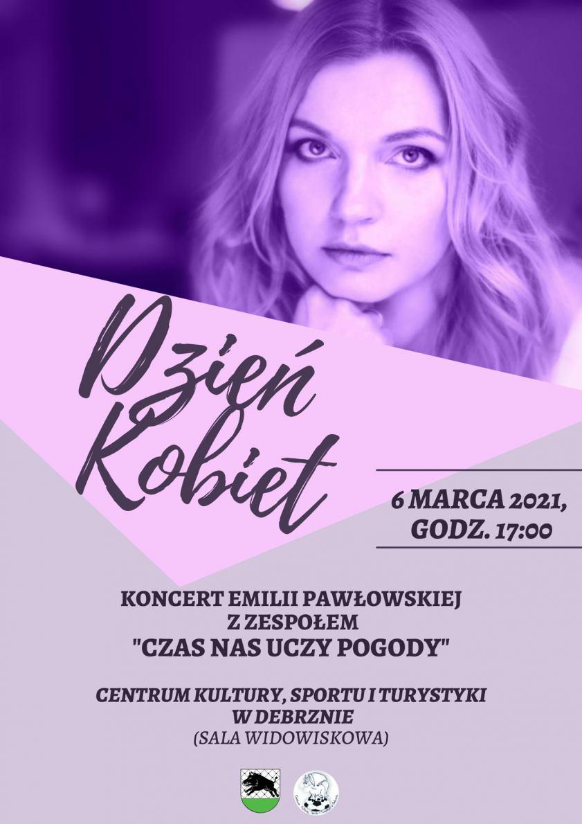 Centrum Kultury, Sportu i Turystyki w Debrznie w sobotę 6 marca organizuje koncert z okazji Dnia Kobiet