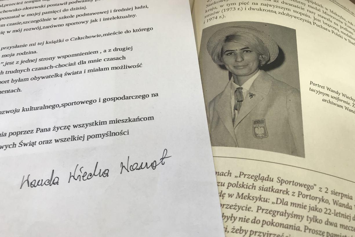 Odkryta po latach w książce Człuchów wygrzebany z makulatury olimpijka spod Człuchowa napisała list do burmistrza