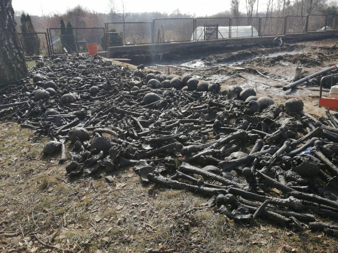 Na placu budowy przy rewitalizacji Sępolna Krajeńskiego znaleziono ludzkie szczątki FOTO