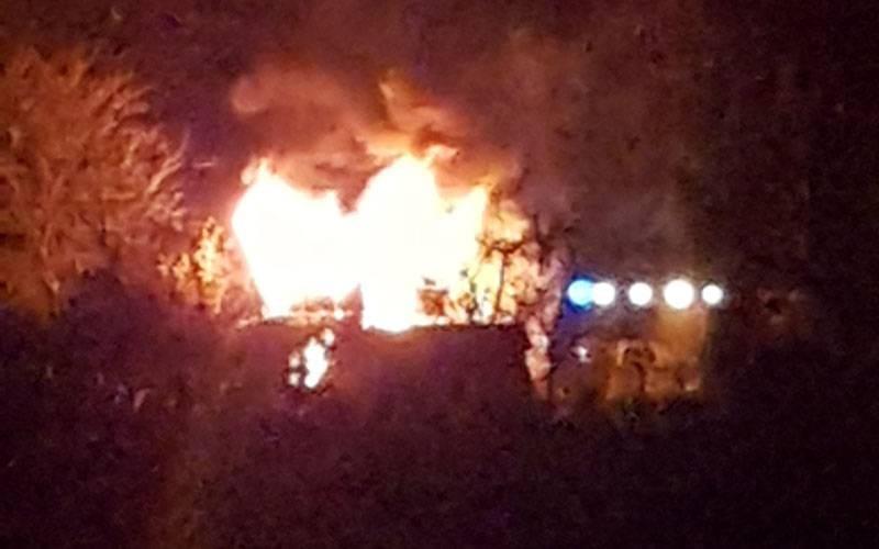 57-letnia kobieta ucierpiała w pożarze drewnianej altany w Wielu w powiecie kościerskim