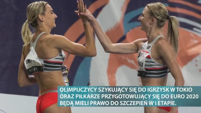 Polscy sportowcy zaszczepią się na COVID-19 przed igrzyskami oraz Euro 2020. Nie możemy zmarnować ich wysiłku