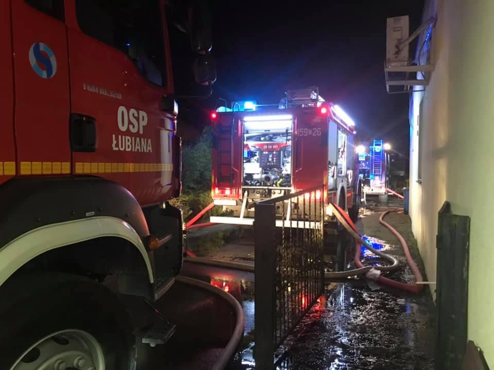 Pożar kotłowni w budynku mieszkalnym w Kornem k. Kościerzyny. Nie ma poszkodowanych