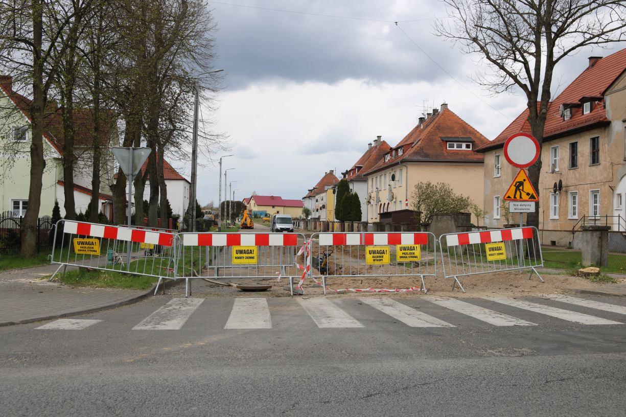 Ulica Kościuszki w Człuchowie nie będzie już zalewana. Ruszył remont tej drogi oraz sąsiednich ulic