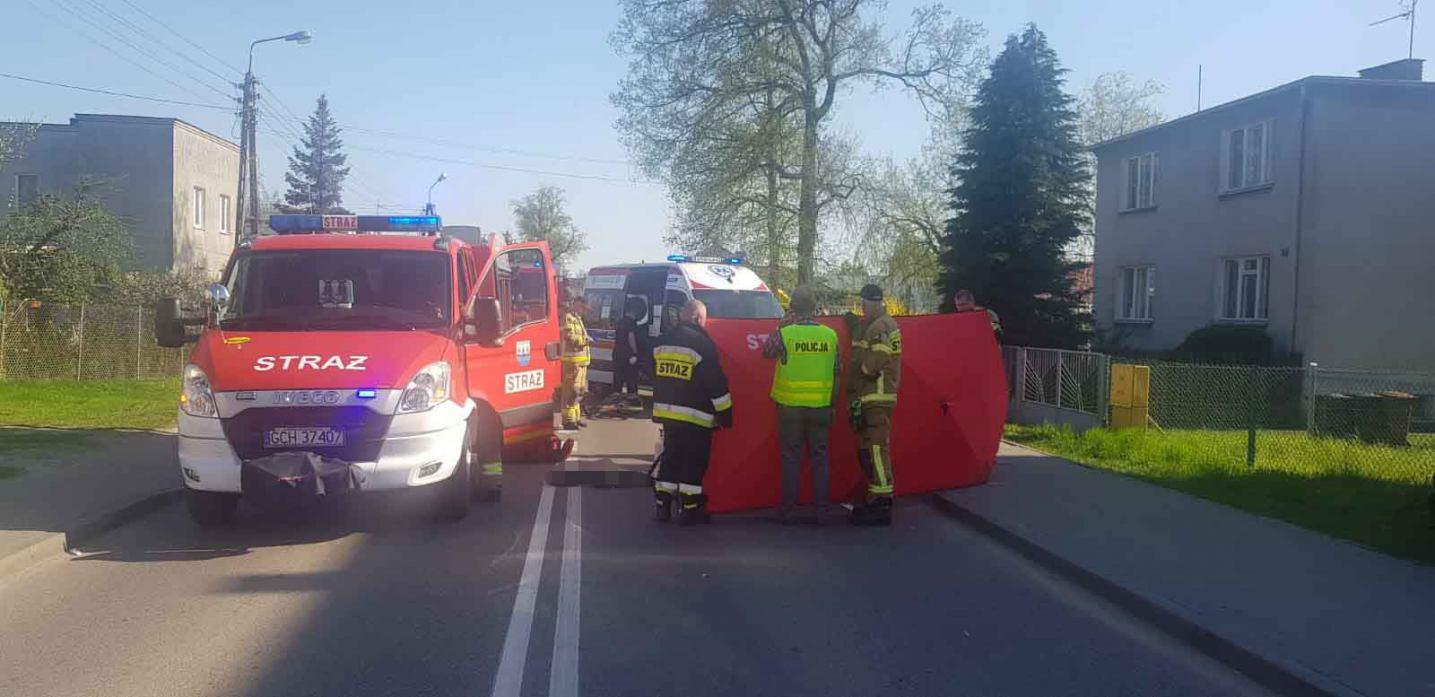 Śmiertelne potrącenie w Czersku. Nie żyje rowerzysta