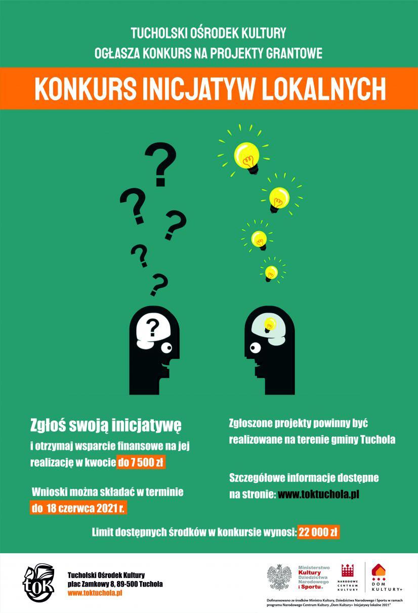 Tucholski Ośrodek Kultury czeka na zgłoszenia w Konkursie Inicjatyw Lokalnych. Pula to 22 tys. złotych
