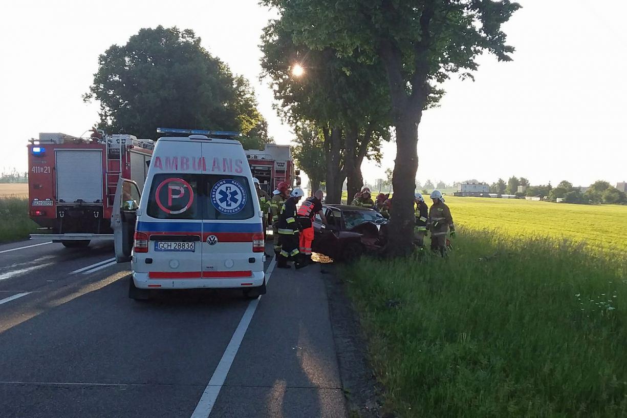 Śmiertelny wypadek w Jeziorkach koło Chojnic. Na  drodze krajowej nr 22 Chojnice - Starogard Gdański zginęła 24-letnia kobieta