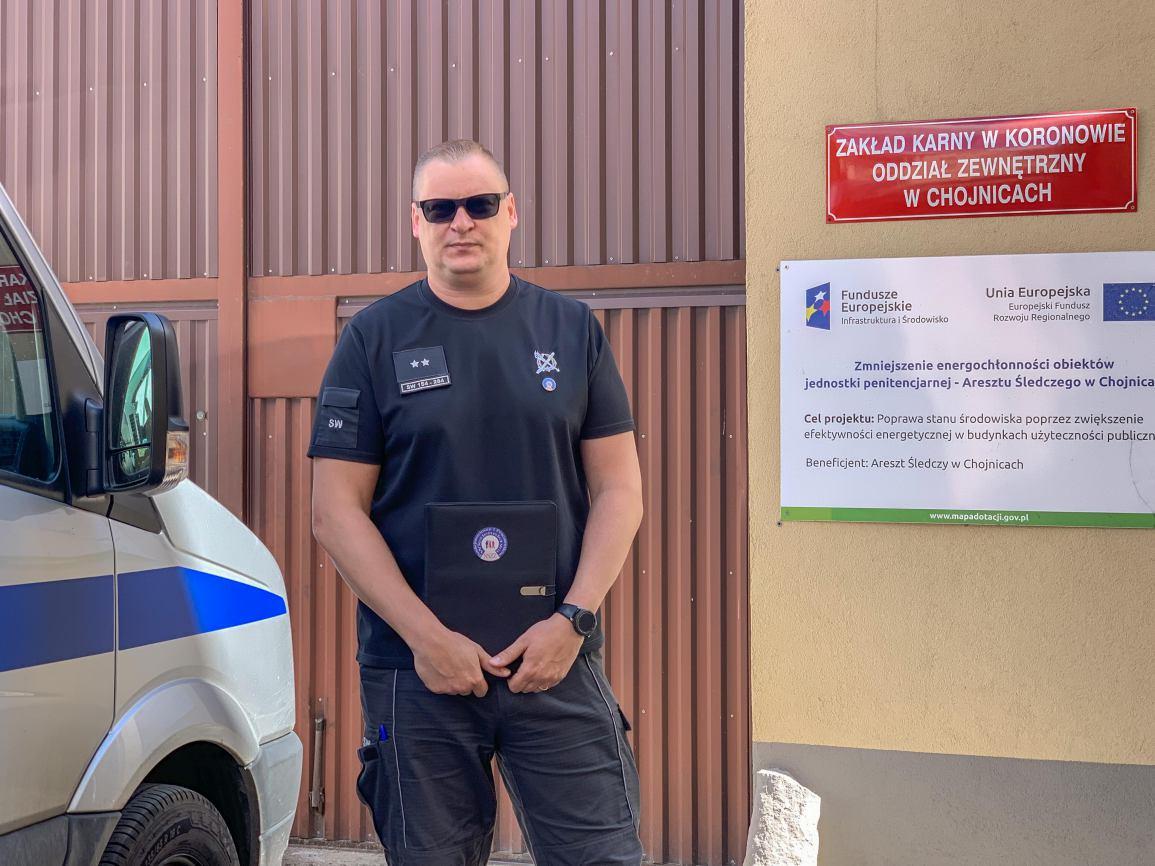 Protest służby więziennej. Uczestniczą w nim także funkcjonariusze z chojnickiego oddziału Zakładu Karnego w Koronowie