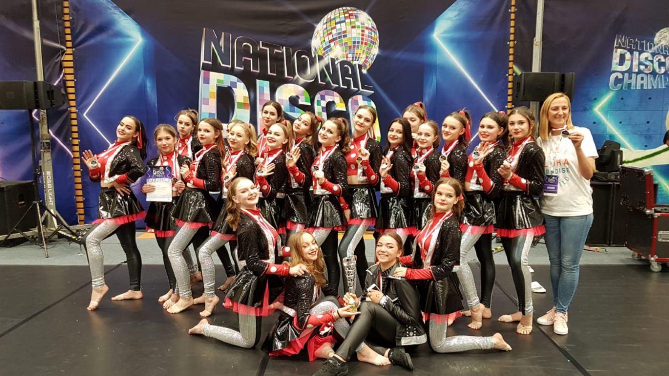 Grupa taneczna Paradise z Karsina mistrzem Polski w kategorii mini formacje Disco Show Juniorzy FOTO