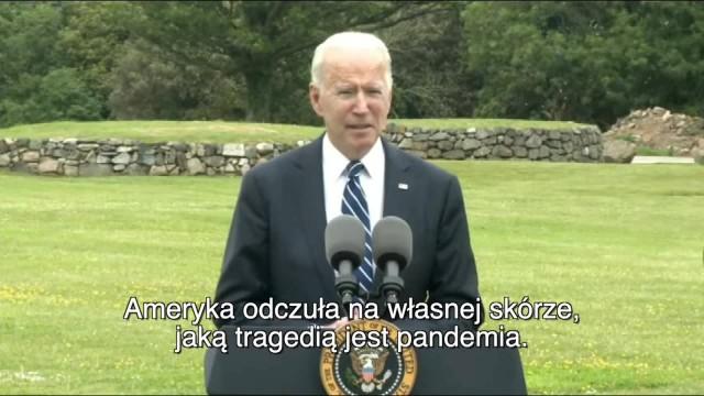 Joe Biden USA przekażą biednym krajom pół miliarda dawek szczepionki na COVID-19