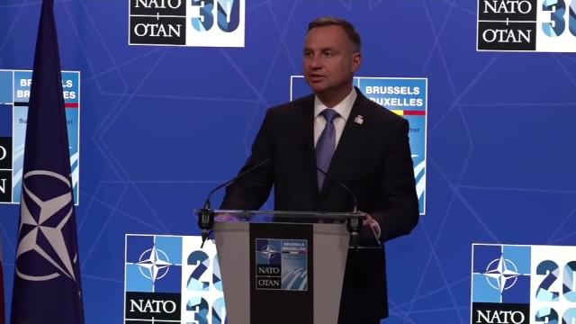 A. Duda po szczycie NATO Zagrożenie ze strony Rosji, to jest jedno z największych wyzwań